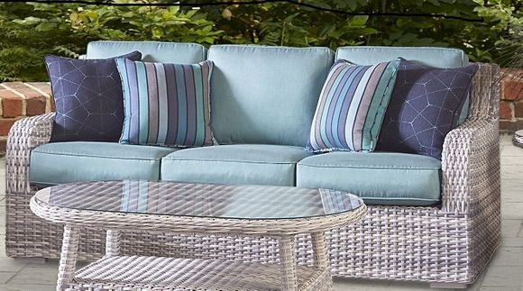 Santa Clara Outdoor Wicker Sofa