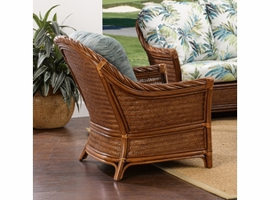 Santorini Rattan Chair-SHOWN IN SANDALWOOD FINISH