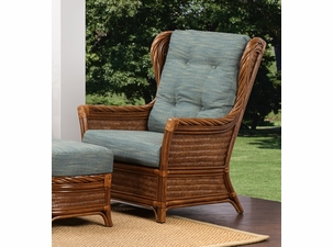 Santorini Rattan High Back Chair- SHOWN IN SANDALWOOD FINISH