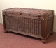 Savannah Small  Wood Lined Wicker Trunk