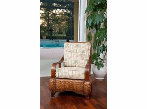 Seagrass and Wood Chair