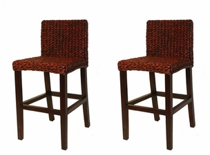 Seagrass Counter Stool: Barbados Style - Set of 2