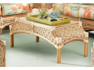 Seagrass Rattan Coffee Table - Doral