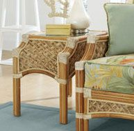 Seagrass Rattan End Table - Doral