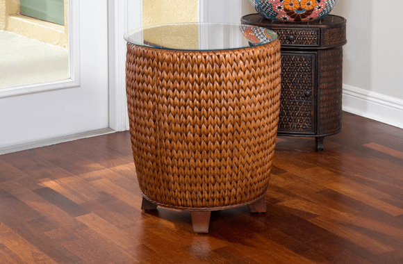 Seagrass Round End Table