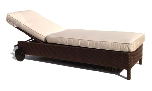 Outdoor Wicker Chaise - Sonoma Hurry only 1 left