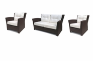Sonoma Outdoor Wicker Set of 3- Loveseat and 2 Chairs