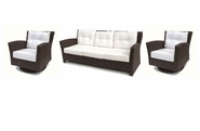 Sonoma Outdoor Wicker Set of 3- Sofa and 2 Swivel Rockers