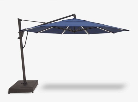 Starlux AKZ PLUS Cantilever Lighted Umbrella - 13 Foot with Base Included