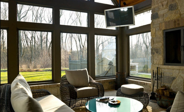 Does It Look Ok To Put A Tv In A Sunroom