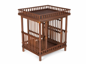 The Lodge Rattan End Table