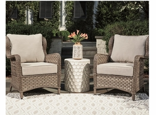 The Manor Outdoor Wicker Chair Set of 2