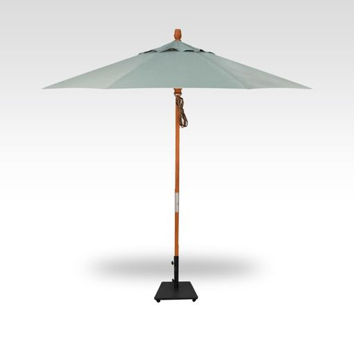 Treasure Garden 9 Foot Wood Market Umbrella- Quad Pulley Lift