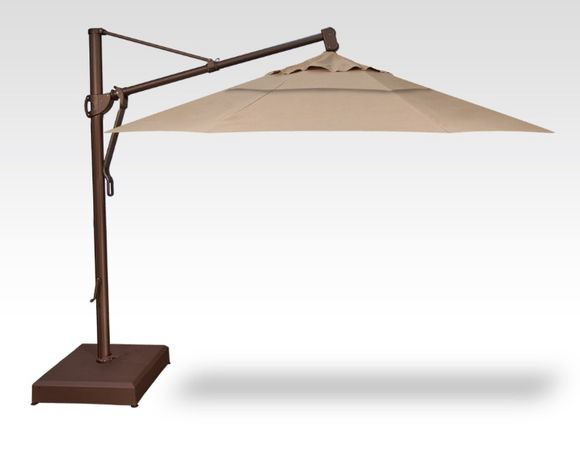 Treasure Garden 13 Foot Cantilever Umbrella with Base Included