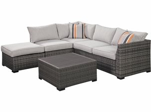Valencia Outdoor Wicker sectional With Coffee Table