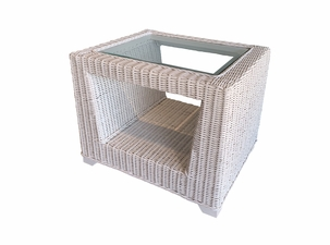 Verona Natural Wicker End Table