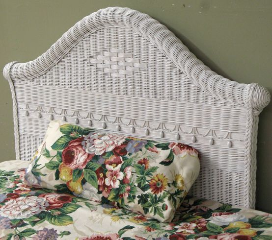 Victorian Twin Wicker Headboard-PLEASE NOTE- Headboards can not be sold as 1 item. You need 2 items or more from the same collection.