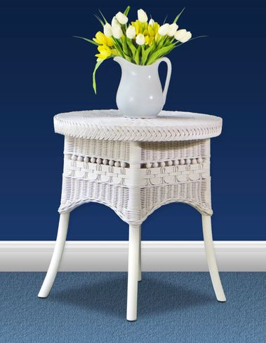 Victorian Wicker Accent Table