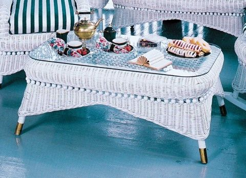 Victorian Wicker Coffee Table