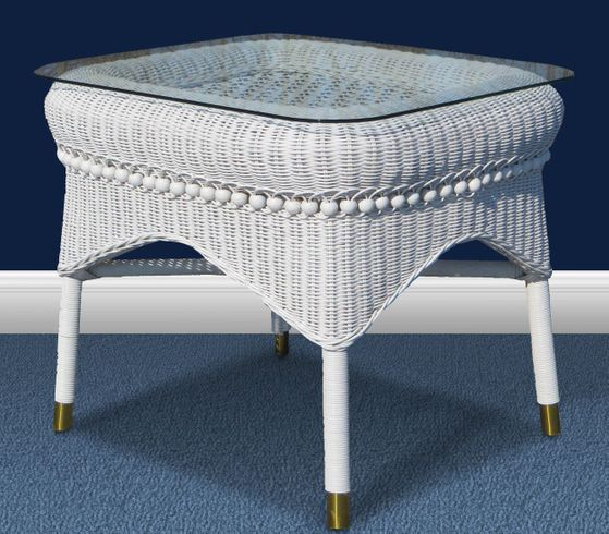 Victorian Wicker End Table