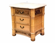 West Palm Rattan 3 Draw Nightstand