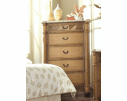 West Palm Rattan 5 Draw Chest