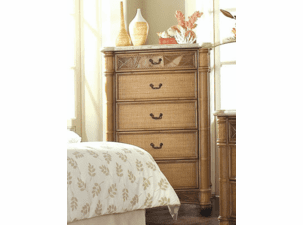 West Palm Rattan 5 Draw Chest-Hurry only 1 left!