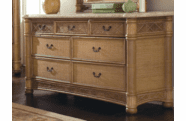 West Palm Rattan 7 Draw Dresser