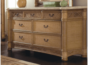 West Palm Rattan 7 Draw Dresser-Hurry only 1 left!