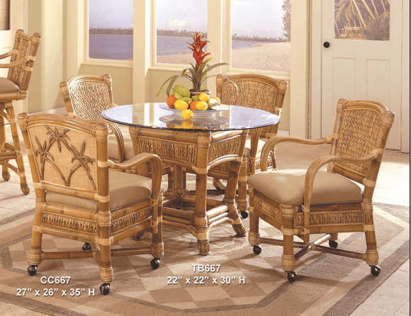 West Palm Rattan Dining Set/5