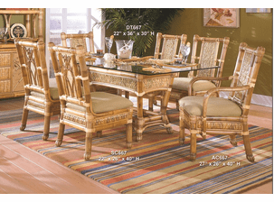 West Palm Rattan Dining Set/7