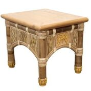 West Palm Rattan End Table