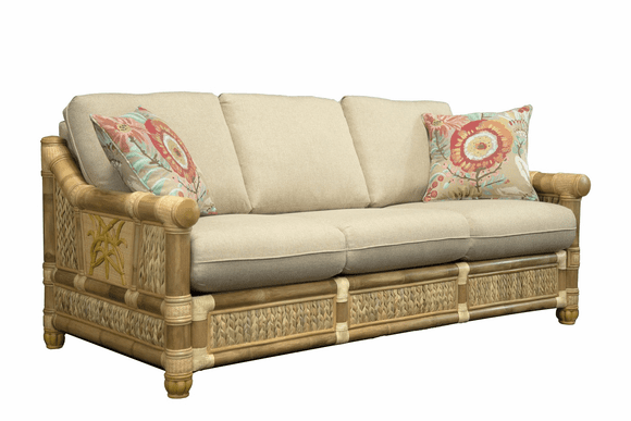 West Palm Rattan Sleep Sofa - Queen Size