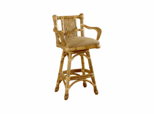 West Palm Rattan Swivel Barstool