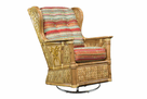 West Palm Rattan Swivel Glider