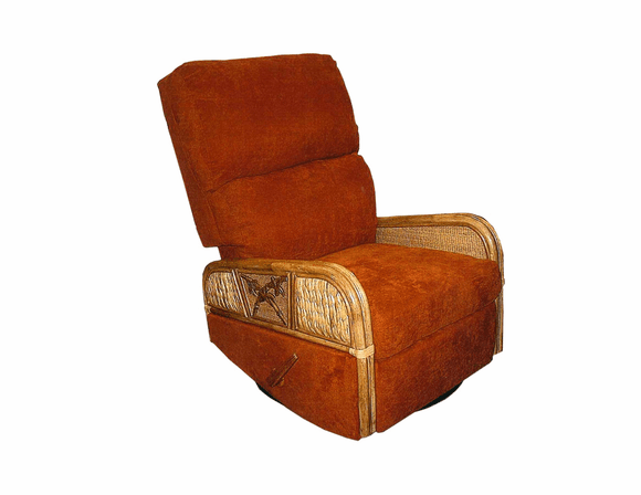 West Palm Rattan Swivel Glider Recliner