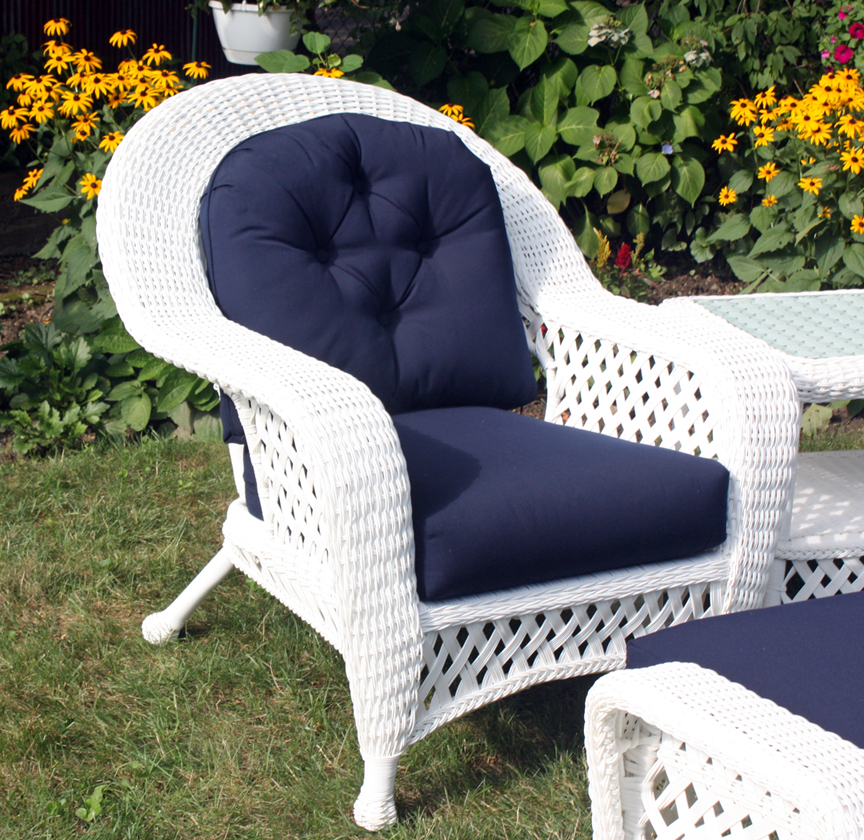 Outdoor Furniture Repair Deer Park Ny: White Outdoor Wicker Chair
