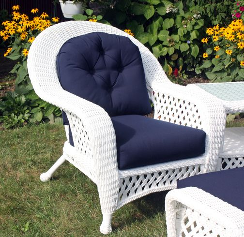 Black  Outdoor Wicker Chair: Montauk Collection sold