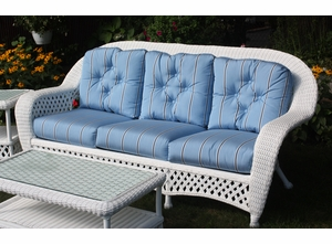 White Outdoor Wicker Sofa Montauk Collection