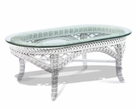 Wicker Coffee Table - Lanai White