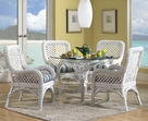 Wicker Dining Set - Lanai White