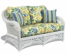 Wicker Loveseat - Lanai White