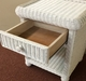 Wicker 1 Drawer Nightstand - Elana