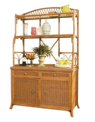 Wicker Bakers Rack-Shown in the Toast finish