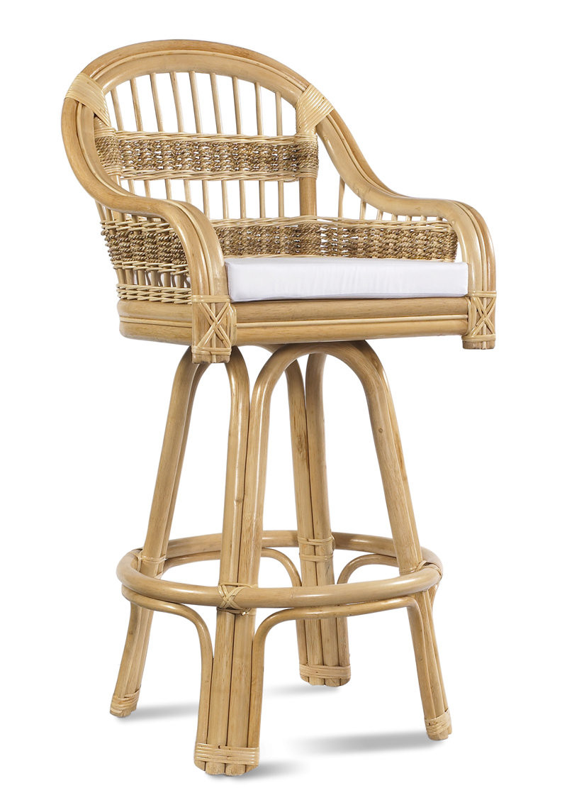 Wicker Bar Stool Tropical Breeze