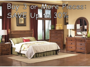 Wicker Bedroom Groupings - Save up to 30%!!