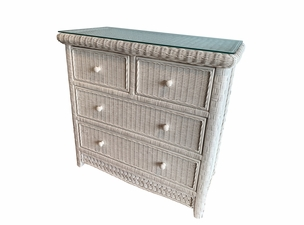 Wicker Chest 4 Drawer Kona
