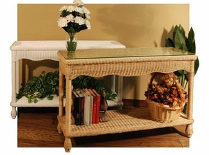 Wicker Console Tables