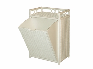 Wicker Hamper with Pull Out Bin