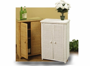 Wicker Jelly Cabinet With Glass Top